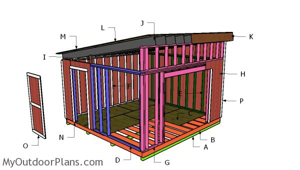 14x14 Lean to Shed Roof Plans