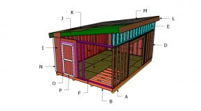 14×20 Lean to Shed Roof Plans