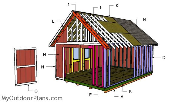 14x20 Gable Shed Roof Plans
