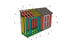 4×16 Lean to Shed Roof Plans