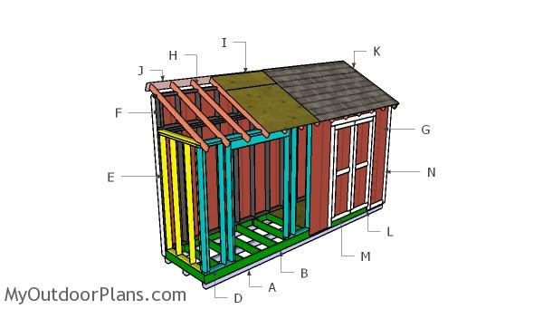 4x16 Lean to Shed Roof Plans