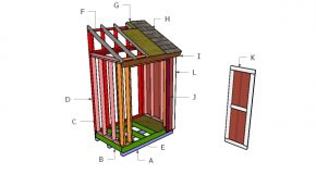 4×6 Lean to Shed Roof Plans