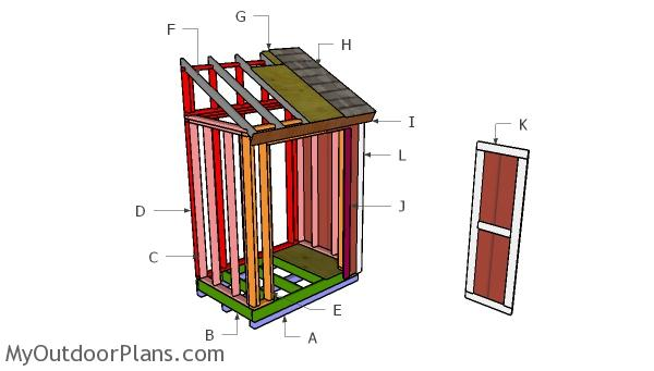 4x6 Lean to Shed Roof Plans