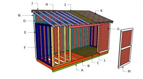 6×16 Lean to Shed Roof Plans
