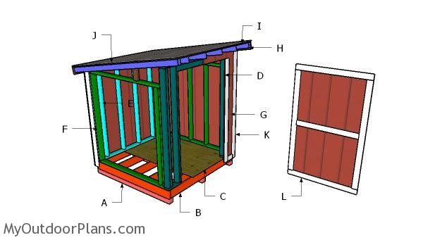 Building a 6x6 lean to shed