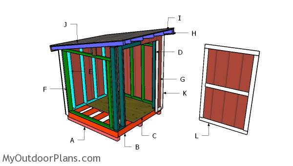 6x6 Lean to Shed Roof Plans