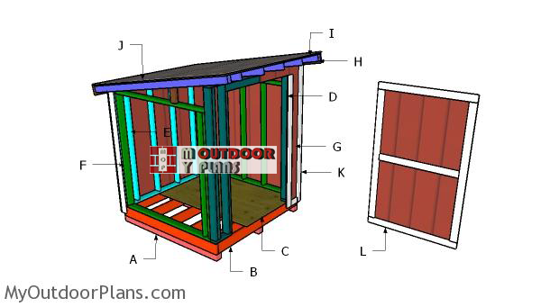 Building-a-6x6-lean-to-shed