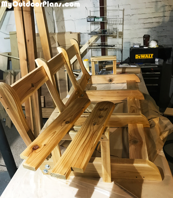 Building-a-porch-swing-bench
