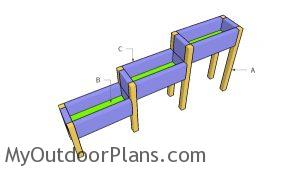 Building tiered planter boxes