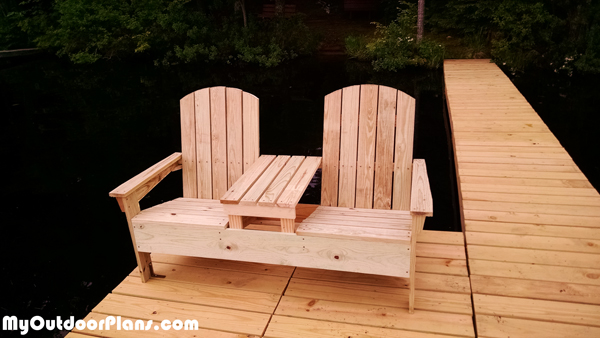 DIY Adirondack Bench with Table