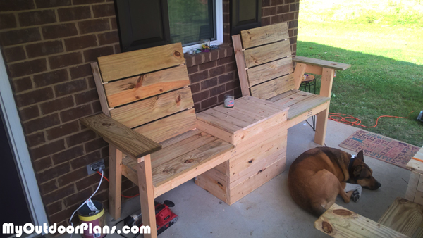 DIY Double Chair Bench with Cooler