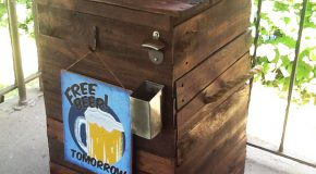 DIY Galvanized Ice Bucket Beer Stand