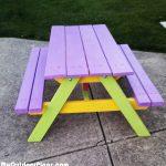 DIY Simple Kids Picnic Table