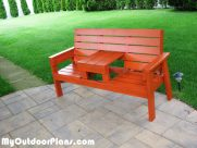 DIY Outdoor Bench with Seat