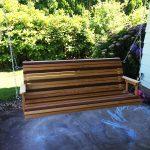 DIY Mahogany and Birch Porch Swing