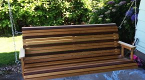 DIY Mahogany and Birch Porch Swing