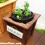 DIY Square Herb Planter