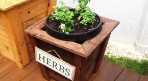 DIY Square Herb Planter