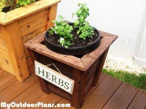 DIY-Square-Herb-Planter