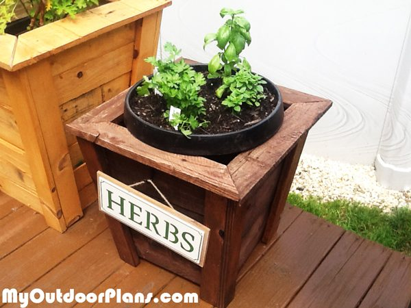 DIY-Square-Herb-Planter
