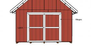 14×20 Shed Doors Plans