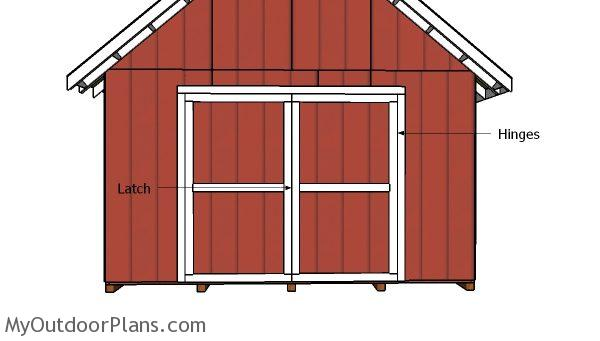 14x20 shed doors plans myoutdoorplans free woodworking for Double door shed plans