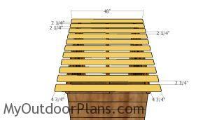 Fitting the roof slats