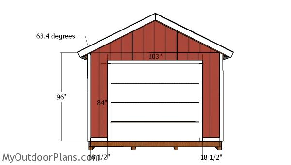 12×12 Shed Trims Plans