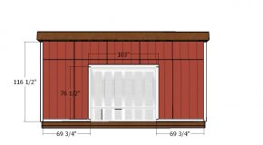 14×20 Lean to Shed Doors Plans