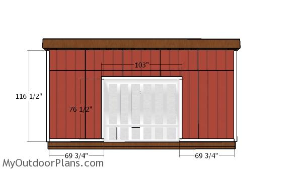 14x20 Lean to Shed Doors Plans