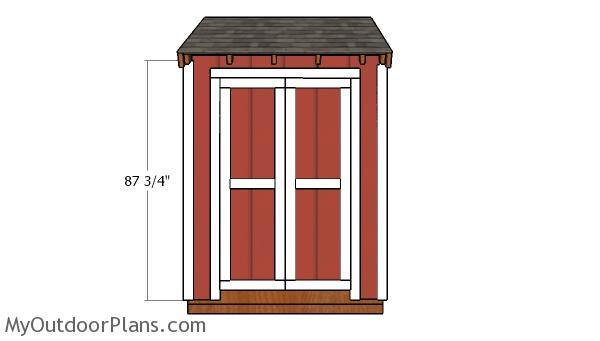 4x6 Double Shed Door Plans