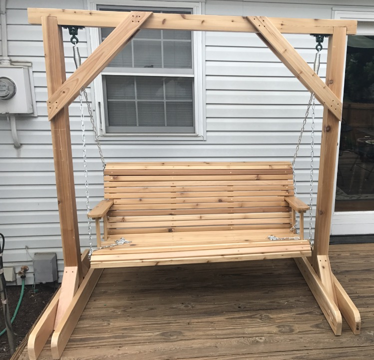 DIY Wood Garden Swing with Stand