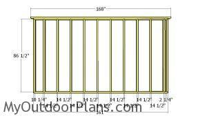 Plain side wall frame plans