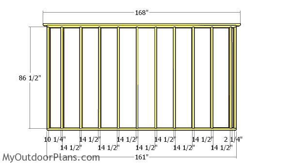 Plain side wall frame plans