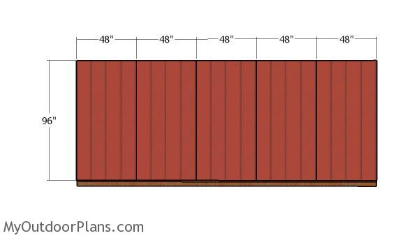 Plain side wall - siding
