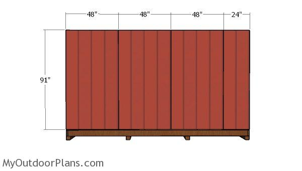 Plain side wall siding panels