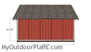 Plain side wall trims