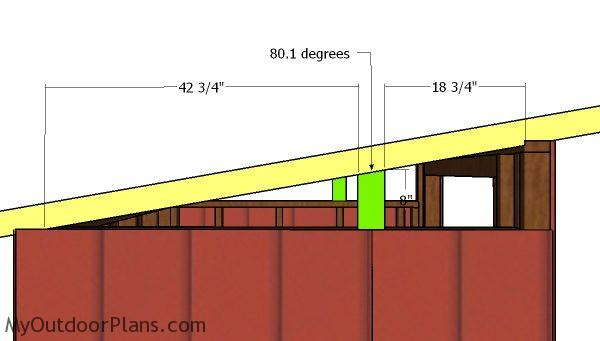 Side lean to roof supports