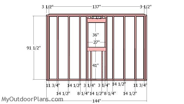 12x12 shed with garage door plans myoutdoorplans free for Garage side door and frame