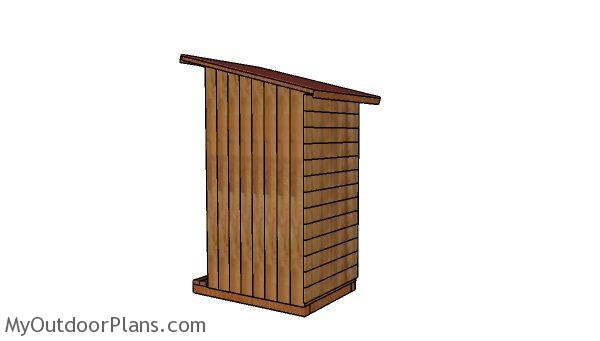 Simple outhouse plans - Back view
