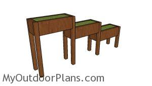 Tiered garden boxes plans