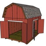 10×16 Barn Shed with Loft Plans