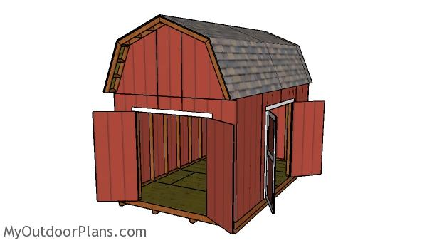 10x16 Barn Shed with Loft Plans