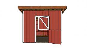 12×12 One Horse Barn Plans