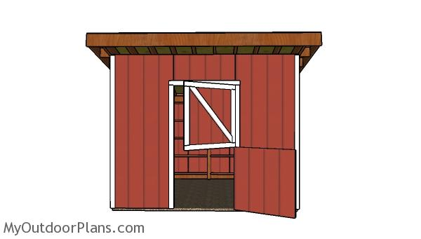 12x12 One horse Horse Shed Plans