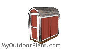 4x8 Barn Shed Plans