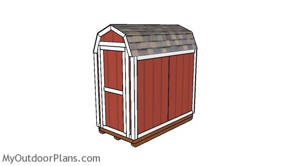 4x8 Barn Shed Plans Myoutdoorplans Free Woodworking