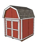 8×8 Gambrel Shed Plans