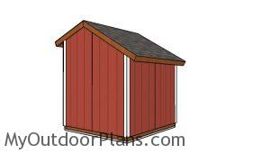 8x8 Loafing shed plans - Back view