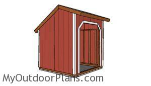 8x8 Loafing shed plans - side view